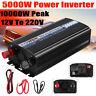 5000W Power Modified Sine Wave inverter 12V to AC 220V Car Caravan USB Converter