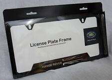 Land Rover Brand Genuine OEM Black License Plate Frame RANGE ROVER Brand New