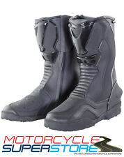 NEW BIKE IT TRANSFER WATERPROOF FULL MOTORCYCLE MOTORBIKE TOURING ROAD BOOTS