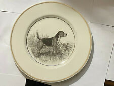 Vintage Hunting Dog Plate Lenox Beagle Hound by Richard bishop circa 1936