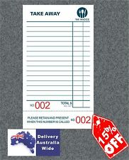 Wholesale 100 Take-Away Docket Books - Single (100 page per book BIG numbers)