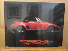 vintage 1985 Porsche Carrera Cabriolet original classic car poster 9125