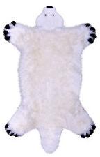 Natur Lammfell Spielteppich Eisbär Schaffell Teppich Läufer 130x80cm waschbar