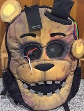 Five Nights At Freddy's Backpack GOLDEN FREDDY FACE School Book Bag Hot Topic