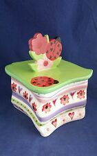 Ceramic Treasure Box Bella Casa By Ganz Valentine'S Day Hearts Flowers Ladybug
