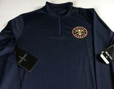 Denver Nuggets Long Sleeve Shirt Mens Medium Dri-Fit 1/4 Zip NBA Basketball NEW