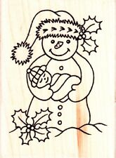 SNOW BABY-Personal Impressions-Wood Mounted Rubber Stamp