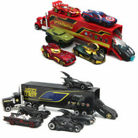7PCS The Avengers Batmobile Truck & Car Model Gift Toy Vehicle Kids Collection