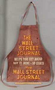 Antique Early 20thC The New York Journal 10c Paperboy Apron, NR