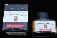 J HERBIN BOTTLED FOUNTAIN PEN INK 30ML AMBRE DE BIRMANIE