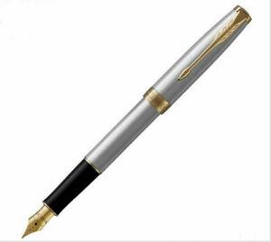 Perfect Parker Pen Sonnet Series Stainless Steel 0.5mm Medium Nib Fountain Pen