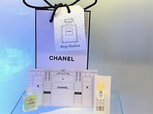 NEW Chanel No.19 PARFUM mini 4ml- Chanel Perfumed Book Mark gift set in Gift Bag