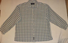 ABERCROMBIE & FITCH L/S MULTI-COLORED PLAID BUTTON FRONT SHIRT     L      K#7612