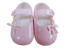 BNIB  Made in the U.K Baby Girls pink baypod shoes soft sole 3-6 months EU 17