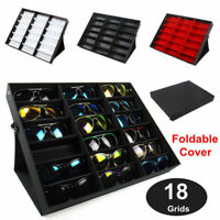 18-Slot Sunglasses Display Counter Stand Storage Rack Cabinet Organizer Tray Box
