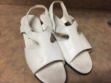 SAS Tripad Comfort Suntimer Women's WHITE Leather Slingback Sandals Sz 12 W USA