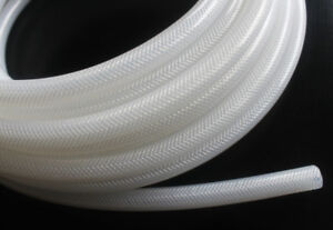 Braid Reinforced Silicone Tubing Tube Hose Food Grade ID from 4mm to 38mm