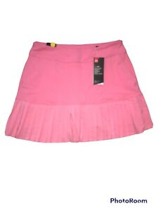 Under Armour Womens Fitted Pink Pleated Athletic Golf Skort Size Medium NWT C59