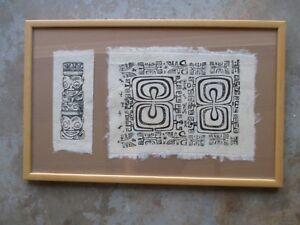 Framed Polynesian Artwork from Tahiti