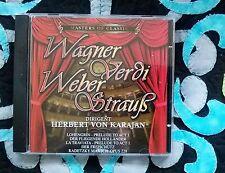 Herbert di Karajan * Wagner Verdi Weber struzzo * Master of Classic * CD