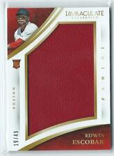 2015 Immaculate Edwin Escobar JUMBO JERSEY RELIC RC 19/49 RED SOX
