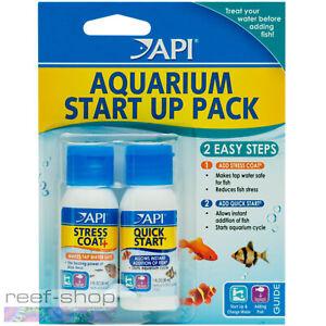 API Aquarium Start Up Pack Two 1oz Bottles API Stress Coat and API Quick Start
