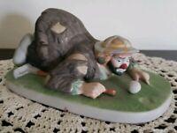 "Vintage Emmett Kelly Jr. Porcelain Clown Figurine ~ Golf Themed ~ ""The Putt"""