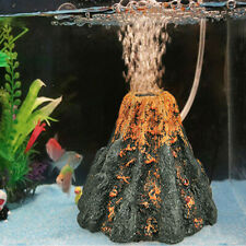 Aquarium Volcano Air Bubble Pump Fish Tank Decor Ornament Water Stone Bubbler x1