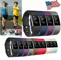 Replacement Wristband For Fitbit Charge 2 Watch Band Strap Silicone Wrist Large