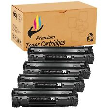 4 PK CB435A 35A Black CE285A Toner Cartridge For HP LaserJet P1005 P1006 Printer
