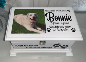 Pet Ashes casket with Lock&Photo Personalised urn memorial memory box Urn SCLP