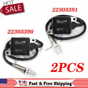Pair Nitrogen Oxides Nox Sensor 22303390 22303391 For Volvo D11 D13 D16 Mack MP8