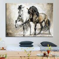 Retro Horse Print Vintage Malerei gute Qualität Leinwanddruck Dekor 40 S1B9 2019