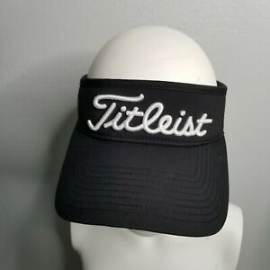 Titleist PRO V1 FJ Foot Joy Golf Tour Visor Adjustable Strapback Black White