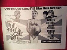 m12p ephemera 1969 film advert till death us do part dandy nichols alf garnett