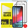 2Pack Full Cover Tempered Glass For iPhone 11 Pro X XR XS Max Screen Protector