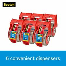 Scotch Heavy Duty Shipping Packaging Tape 6 Rolls With Dispenser 188 X 222 Yd
