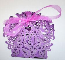 10 Candy Box Schmetterling für Gastgeschenke Fb Lila Hochzeit Wedding Party