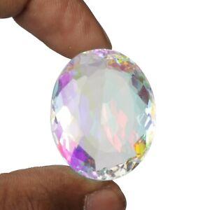 Oval Cut Mystic Topaz Stone 128.30 Ct. Multi Color Loose Gemstone SR-194