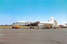 Coventry Airport DC-6-SIXC on the Apron  Airplane Postcard