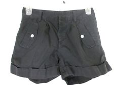 Quicksilver Womens Shorts Size 25 (28x3.5) Black Cuffed 100% Cotton