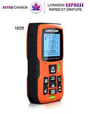 Télémètre, Mesure de distance laser 165 ft / 50 m écran LCD, 2 niveaux de bulle