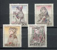 37044) Czechoslovakia 1956 MNH Regional Costumes 4v