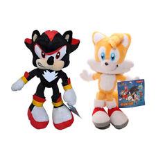 Shadow Black & Yellow Sonic the Hedgehog Plush Doll Figure Stuffed Toy One Set