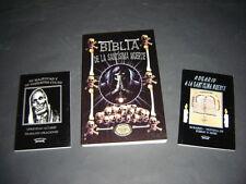 #5 JUEGO 3 BOOKS SANTA MUERTE libros rosario,majestad y culto,biblia calaveritas