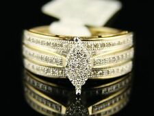 Womens Ladies Bridal Engagement Marquise Diamond Ring