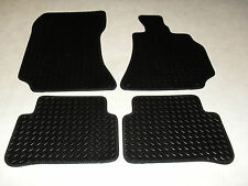 Mercedes C Class 2014-on W205 Fully Tailored Deluxe RUBBER Car Mats in Black