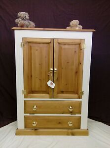 Fabulous Solid Pine Freestanding TV Computer China Storage Cabinet