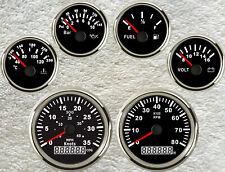 6 Gauge Set,Speedo,Tachometer,Fuel Level, Water Temperature,Volt,Oil Pressure