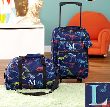 Luggage for Kids Boys Set Small Rolling Suitcase Duffel Bag Dinosaur Letter L